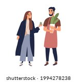 couple of people with potted... | Shutterstock .eps vector #1994278238