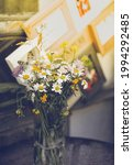 rustic bouquet of yellow and... | Shutterstock . vector #1994292485