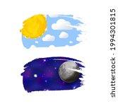 day and night like brush stroke ... | Shutterstock .eps vector #1994301815