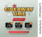 giveaway contest for social... | Shutterstock .eps vector #1994306672
