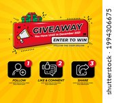 giveaway contest for social... | Shutterstock .eps vector #1994306675
