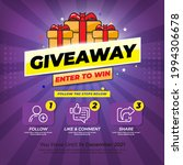 giveaway contest for social... | Shutterstock .eps vector #1994306678