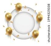 poster witn realistic golden... | Shutterstock .eps vector #1994325038