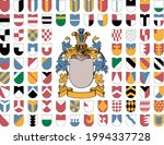 coat of arms and the ordinaries ... | Shutterstock .eps vector #1994337728
