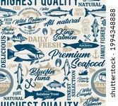 vector fish seamless pattern ...   Shutterstock .eps vector #1994348888