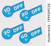 blue discount tags  10 percent  ... | Shutterstock .eps vector #1994349218
