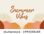 summer vibes poster  hand drawn ... | Shutterstock .eps vector #1994358185