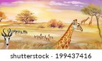 illustration of animals in... | Shutterstock .eps vector #199437416