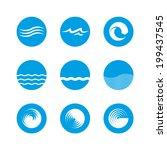 wave icon set   ocean  sea ...   Shutterstock .eps vector #199437545