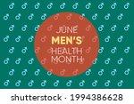 june is men's health month.... | Shutterstock .eps vector #1994386628