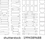 a collection of ribbons and... | Shutterstock .eps vector #1994389688