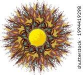 colorful grunge flower or frame ... | Shutterstock .eps vector #1994419298