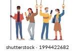 men  women people passengers in ... | Shutterstock .eps vector #1994422682