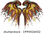grunge colorful wings on a... | Shutterstock .eps vector #1994426432