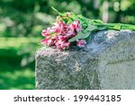 Headstone In Cemetery With...