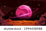mars landscape with alien...   Shutterstock .eps vector #1994458988