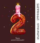 birthday cake font number 2... | Shutterstock .eps vector #1994466395