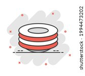 plate icon in comic style. dish ...   Shutterstock .eps vector #1994473202