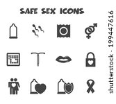 safe sex icons  mono vector...   Shutterstock .eps vector #199447616