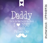 abstract father's day... | Shutterstock .eps vector #199448936