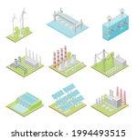 green energy with solar panels  ...   Shutterstock .eps vector #1994493515
