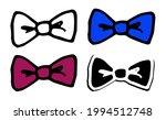 vector set of bow tie  burgundy ... | Shutterstock .eps vector #1994512748