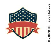 usa shield frame with ribbon | Shutterstock .eps vector #1994516228
