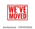 we have moved red sign stamp.... | Shutterstock .eps vector #1994553365