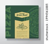 pizza with basil herb realistic ... | Shutterstock .eps vector #1994561885