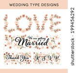 wedding lettering for card... | Shutterstock .eps vector #199456292