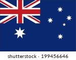 flag australia original vector | Shutterstock .eps vector #199456646