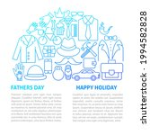 fathers day line template.... | Shutterstock .eps vector #1994582828