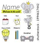 baby birth print. baby data... | Shutterstock .eps vector #1994617442
