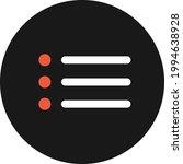 bullet menu icon vector image....