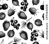 vector pattern with  hand drawn ... | Shutterstock .eps vector #199464008