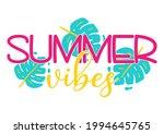 vector summer vibes... | Shutterstock .eps vector #1994645765