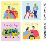 i love my family. cute vector... | Shutterstock .eps vector #1994694878