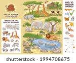 animals of the african savannah.... | Shutterstock .eps vector #1994708675
