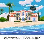 modern cottage mansion on... | Shutterstock .eps vector #1994716865