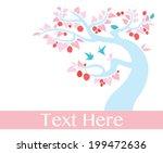 birds and fruit tree  vector ... | Shutterstock .eps vector #199472636