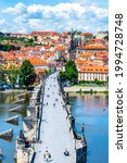 prague panorama with charles... | Shutterstock . vector #1994728748