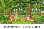 tiger family in the forest... | Shutterstock .eps vector #1994772815