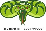 aggressive snake opening its...   Shutterstock .eps vector #1994790008