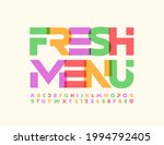 vector colorful sign fresh menu....   Shutterstock .eps vector #1994792405