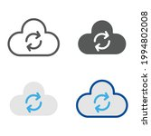 cloud and refresh symbol for... | Shutterstock .eps vector #1994802008