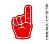 cartoon foam finger vector... | Shutterstock .eps vector #1994804888