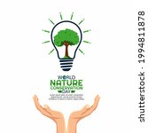 vector graphic of world nature... | Shutterstock .eps vector #1994811878