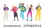happy young characters in 80s... | Shutterstock .eps vector #1994834915