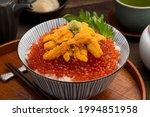 Uni Ikura Don  Japanese Food...