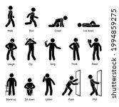 action verbs stick figure man...   Shutterstock .eps vector #1994859275
